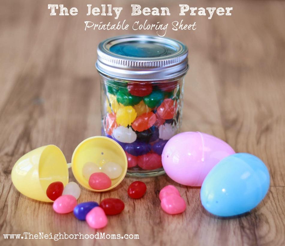 The Jelly Bean Prayer Jar And Coloring Sheet Printable The Neighborhood Moms