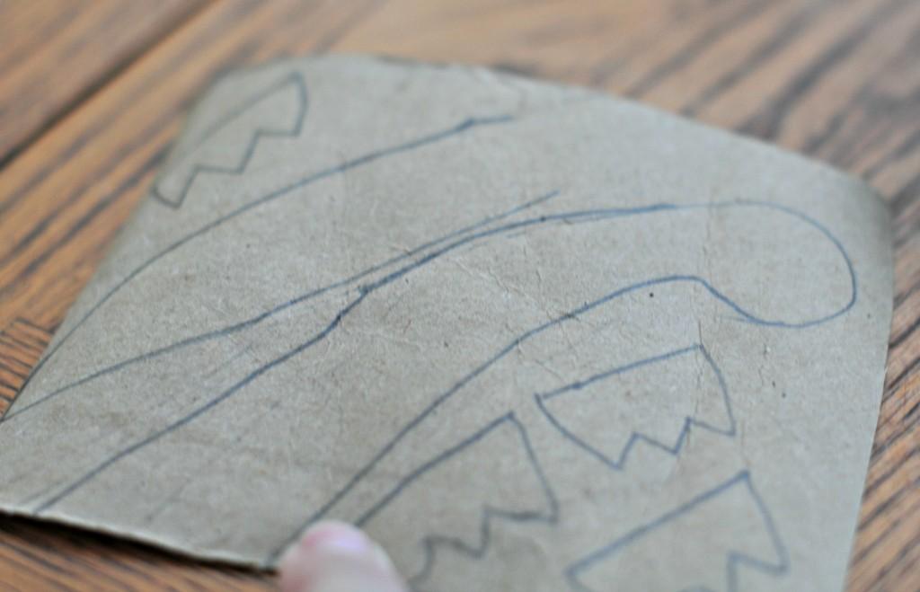 Dinosaur Tube Craft