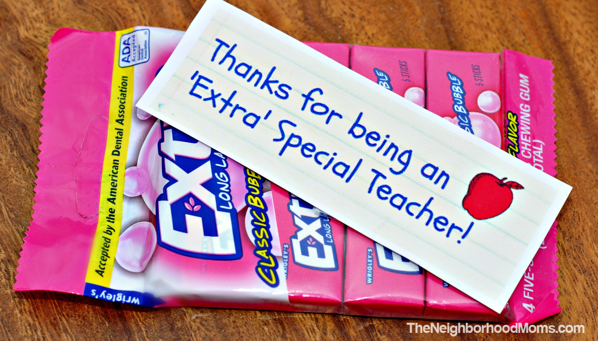 graphic relating to Extra Gum Teacher Appreciation Printable identified as Instructor Appreciation Reward Programs with Printables - The