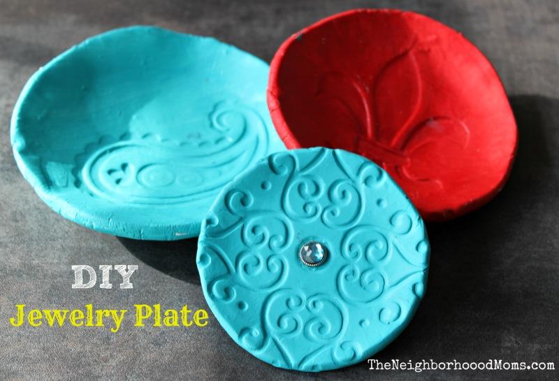 Homemade DIY Jewelry Plate