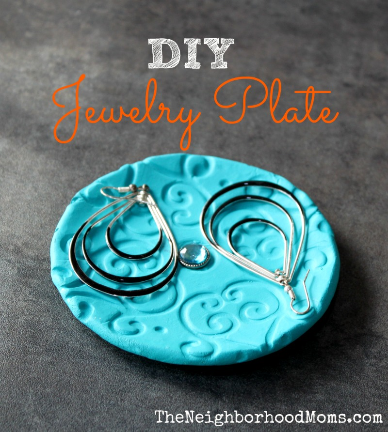 Homemade DIY Jewelry Plate