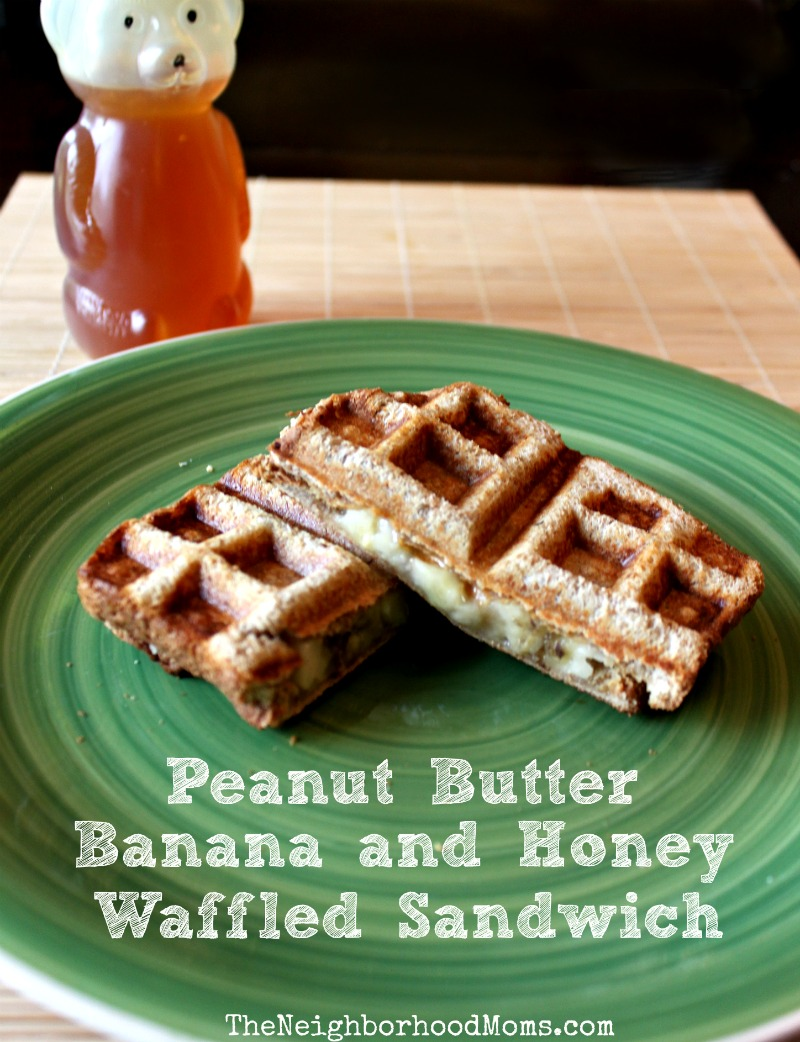 Peanut Butter Banana Honey Waffle Sandwich