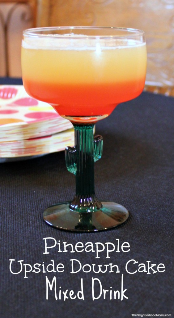Pineapple Upside Down Cake Mixed Drink