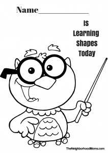 Shapes Printable Coloring Page