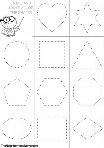 shape coloring pages for toddler | Shapes Coloring Pages Printable - The Neighborhood Moms