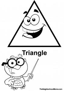 Triangle Printable Coloring Page