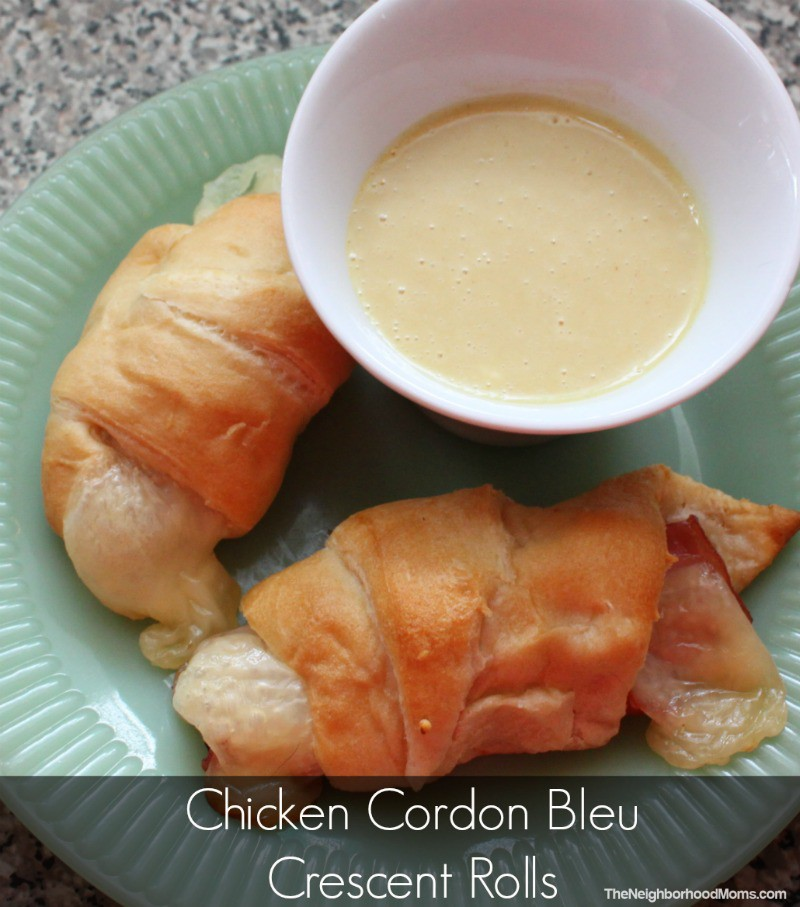 Chicken Cordon Bleu Crescents and Honey Mustard Dip - The Neighborhood ...