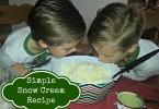 Simple Snow Cream Recipe