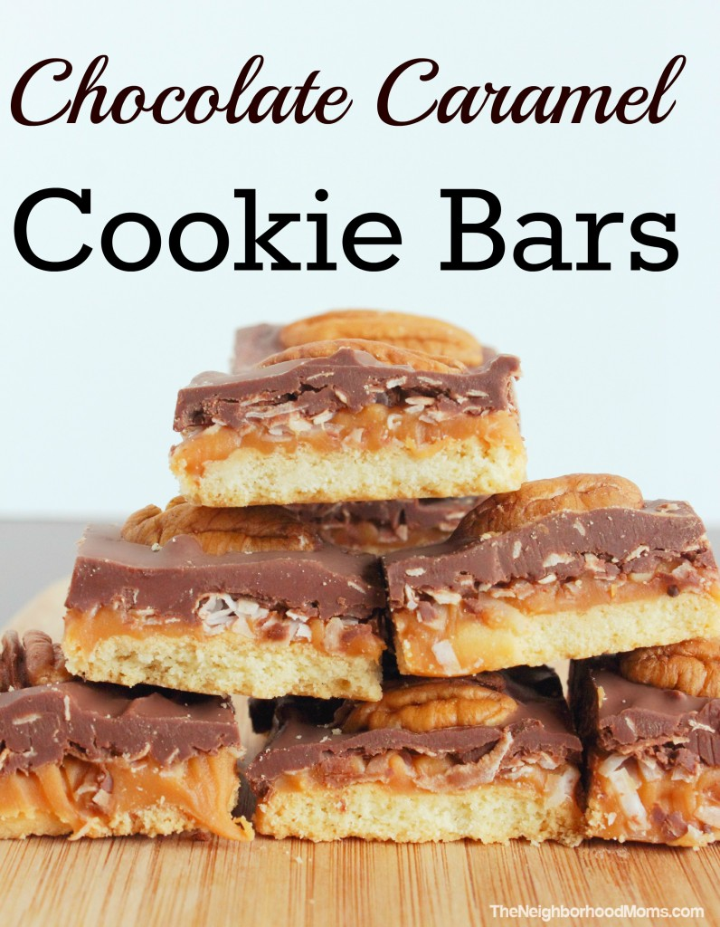 Chocolate Caramel Cookie Bars - The Neighborhood Moms