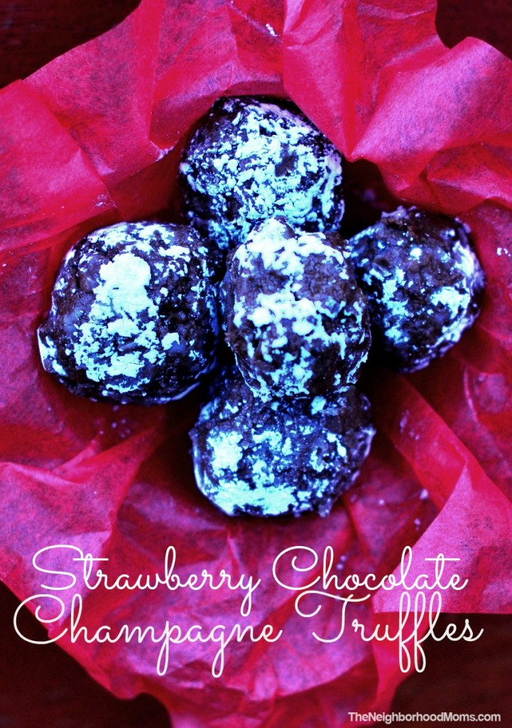 Strawberry Chocolate Champagne Truffles