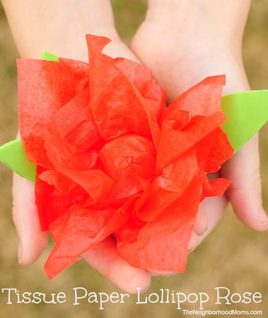 Tissue Paper Lollipop Rose