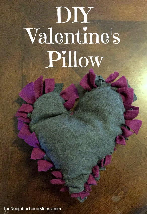DIY Valentine Heart Pillow