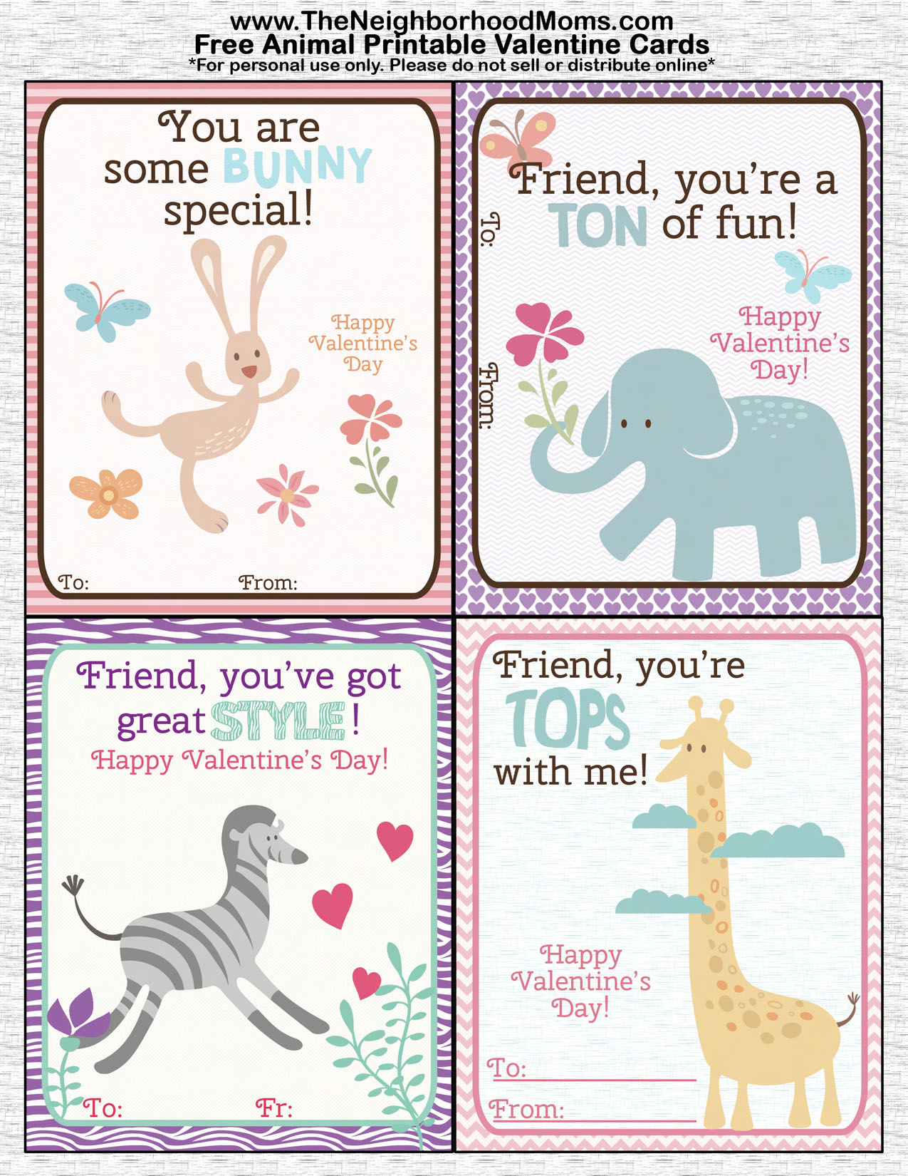 Printable Valentines Cards The Neighborhood Moms – Online Printable Valentine Cards