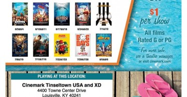 Summer Dollar Movies at Cinemark