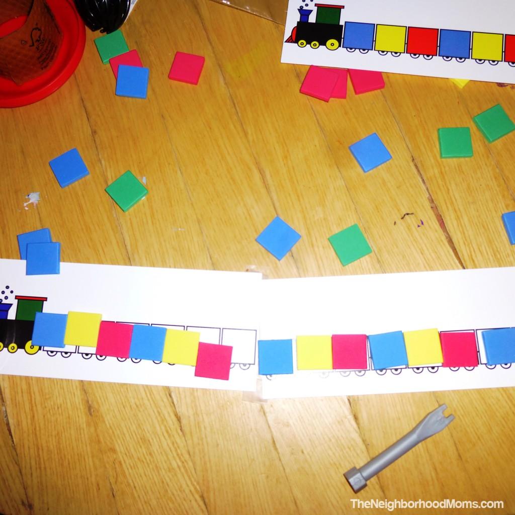 Kiddo's pattern train