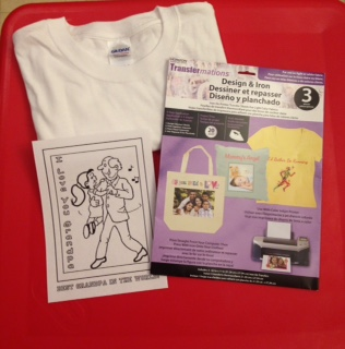 Father's Day Coloring Page Tshirt