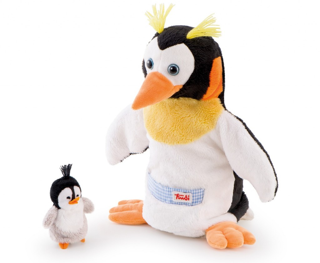 Trudi puppet Penguin Mama and baby