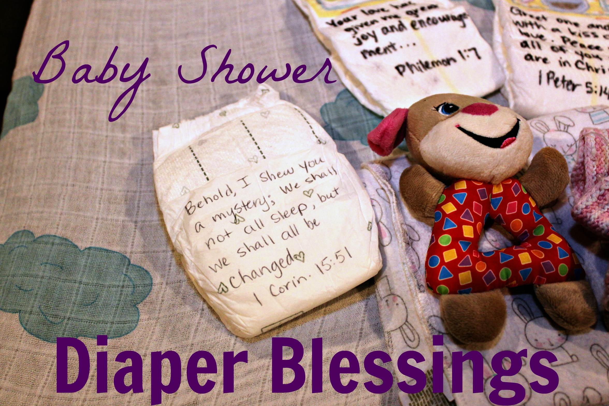 Baby Shower Diaper Blessings   An Easy To Do Personalized Gift For Baby
