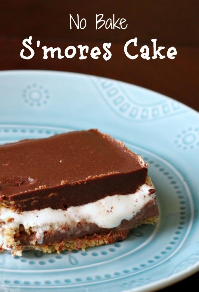 No Bake Smores Cake