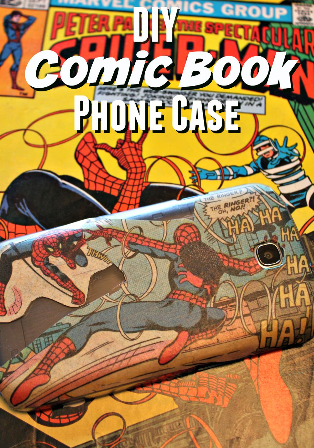 Phone Book Cover Diy : Diy comic book phone case cover the neighborhood moms