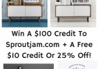 Win-A-100-Credit-To-Sproutjam.com-A-Free-10-Credit