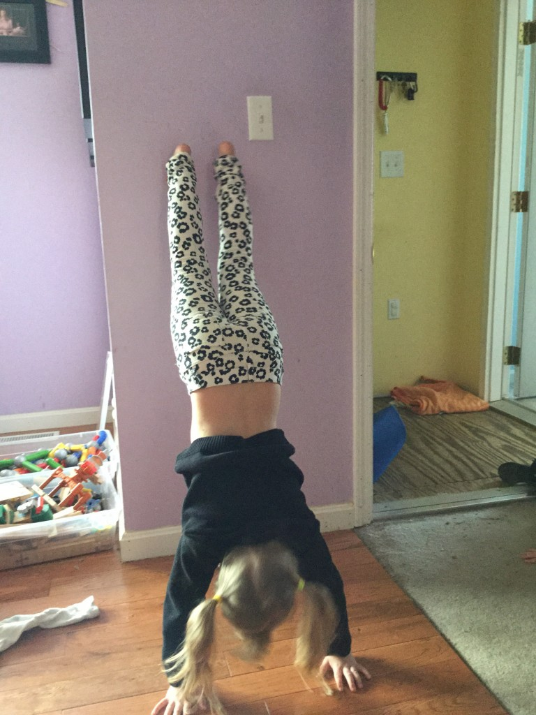 Susie wanted to do handstands.