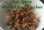 Thai Spicy Minced Basil Chicken