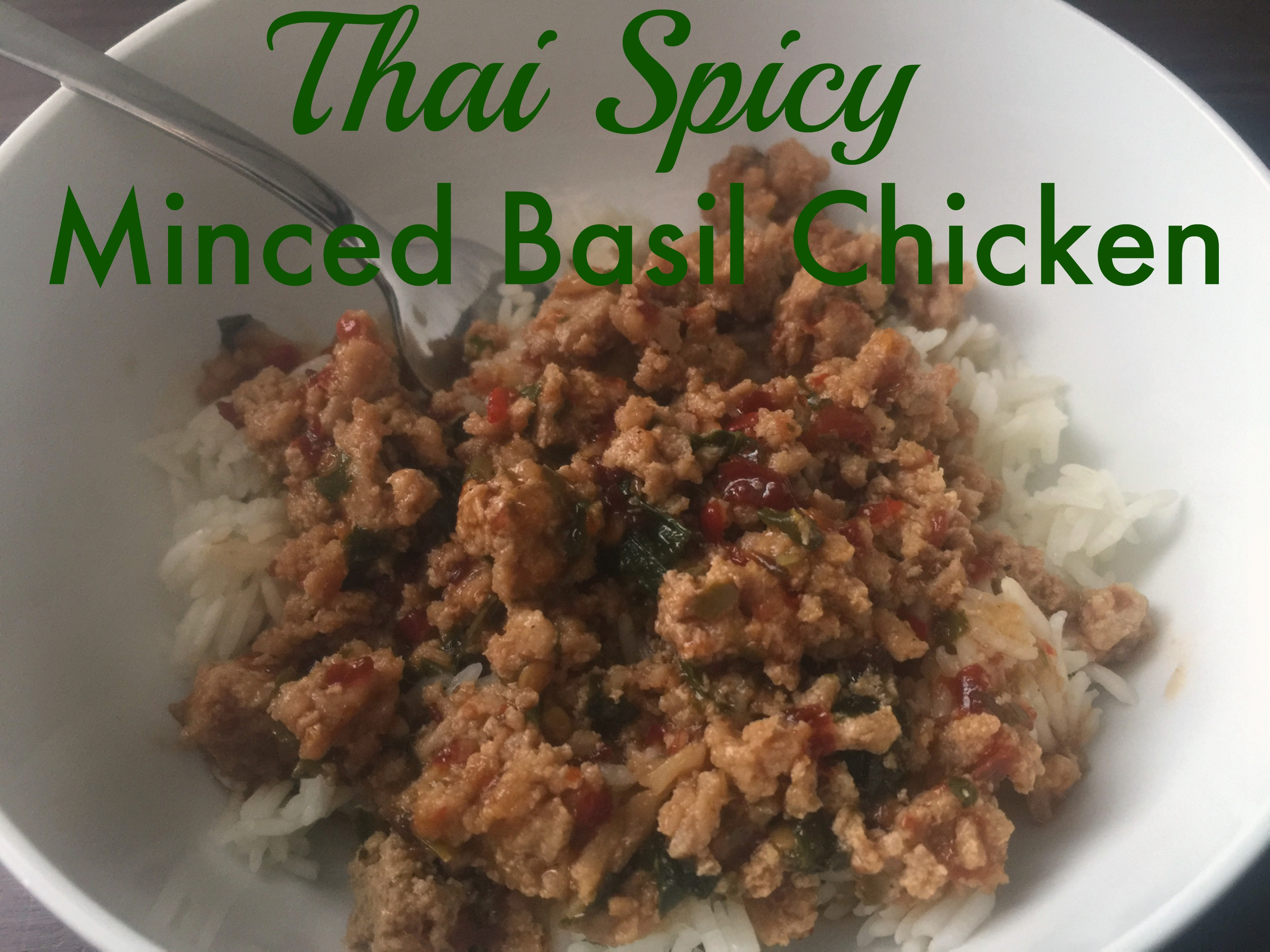 Thai spicy minced basil chicken the neighborhood moms thai spicy minced basil chicken forumfinder Image collections