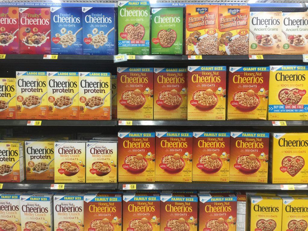 Cheerios at Walmart
